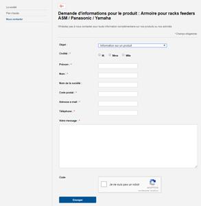 Un formulaire de contact pas aux normes de la RGPD sans les informations légales et aucun accés aux pages de politiques de confidentialité